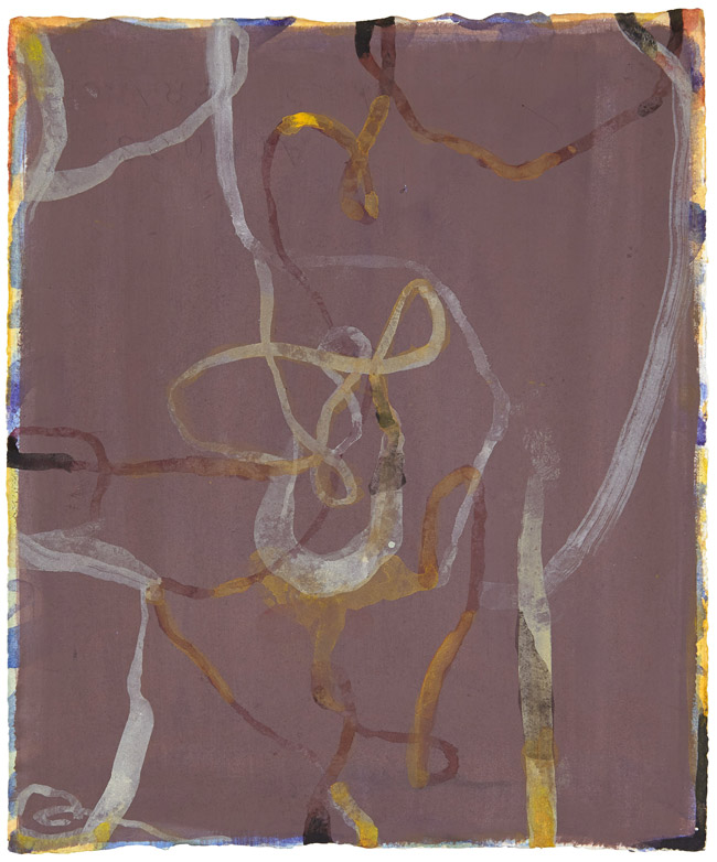[Untitled] (Florence), 2003, gouache on paper, 9 x 7 1/2 inches (16 3/4 x 15 inches framed)
