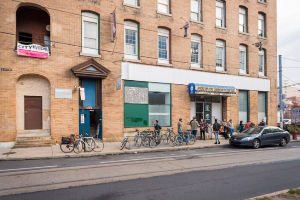 319 North 11th Street in Philadelphia, home to Vox Populi, Grizzly Grizzly, Marginal Utility, PRACTICE Gallery, Tiger Strikes Asteroid, NAPOLEON, and many other artist studios, during the Citywide festival, November 2013. Photo by Jaime Alvarez.