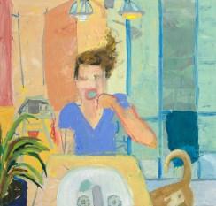 """Mommy Guilt,"" Mariel Herring, Oil on canvas, 38""x40"""