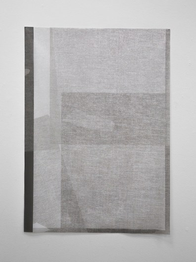 "Mirror, Reflection (1 of 3), Pigment Print on Knitted Voile, 42"" x 30"", 2015"
