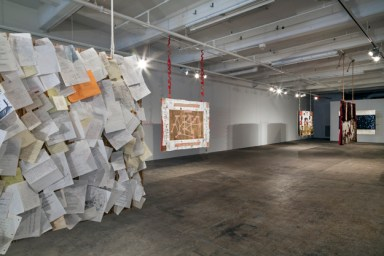 . Cynthia Hopkins, in collaboration with The Fabric Workshop and Museum, Philadelphia. Memorabilia (installation view), 2015. Photo credit: Carlos Avendaño.