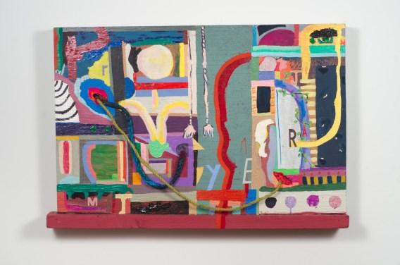 Chris Johanson and Johanna Jackson, How'd I Even Get Here no. 1, 2015, Fleisher/Ollman Gallery. Image: Claire Iltis.