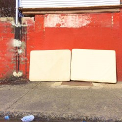 Shils,Red Wall and Two Matresses North Phillycourtesy the artist and Snyderman-Works
