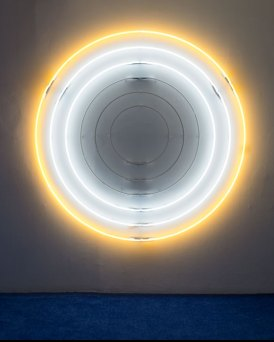 Chad States, Untitled (I AM THE SUN), 2016. Neon, Power Pack, 74x74 inches.