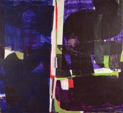 "Purple Night (Magnolia 4), Acrylic on panel, 45"" x 49""Courtesy of Shmidt Dean"
