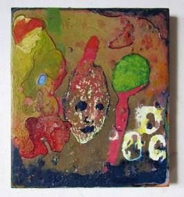 Adam Lovitz, smallpox and tobacco, 9 x 8 inches, acrylic paint on panel, 2016