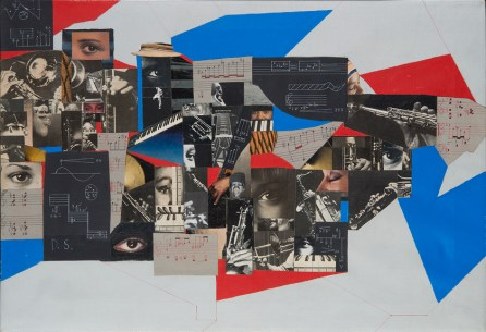 Muhal Richard Abrams, View From Within, 1985. Collage and acrylic on canvas. 17 3/4 x 25 1/2 in. (45 x 65 cm). Courtesy of the artist.