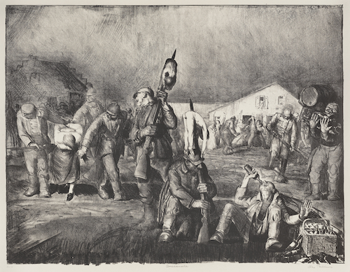 George Bellows (1882–1925) The Bacchanale No. 2, 1918 Lithograph, 25 × 31 ¾ in. Amon Carter Museum of American Art, Fort Worth, Texas, 1985.43 Reproduced with permission of The Bellows Trust