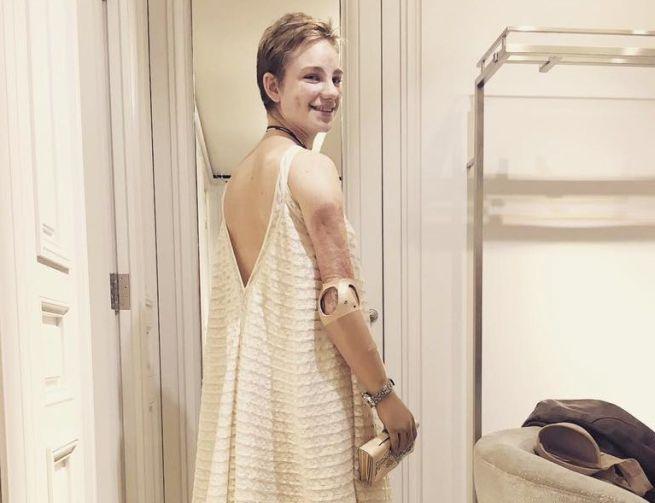 Bebe Vio splendida principessa Dior alla Casa Bianca