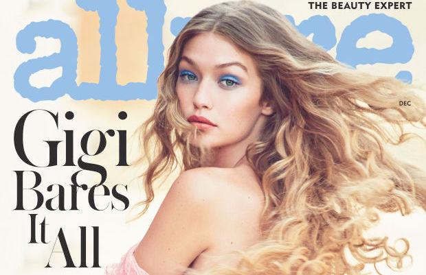 Gigi Hadid mezza nuda sulla cover di Allure di Dicembre