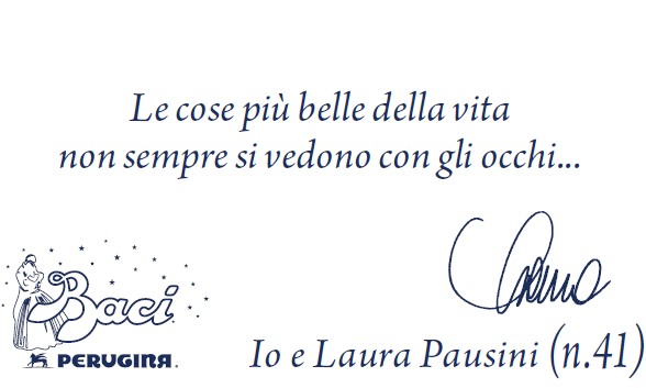 Le canzoni di Laura Pausini sui Baci Perugina