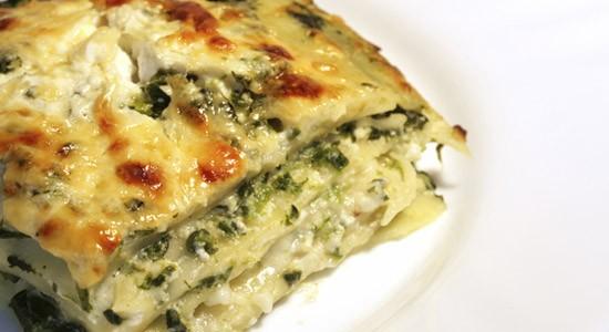 Lasagne con scarola e salsiccia
