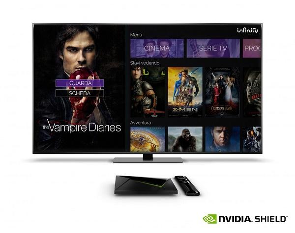 Nvidia Shield TV: l'app di Infinity è disponibile