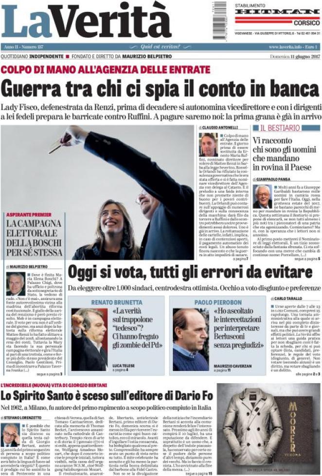Prima pagina dell'11 giugno: i quotidiani di oggi in edicola
