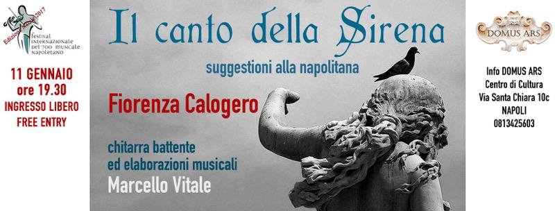 """""""Il canto della sirena"""", la voce di Fiorenza Calogero alla Domus Ars di Napoli"""