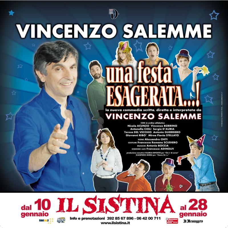 locandina una festa ESAGERATA al Teatro Sistina