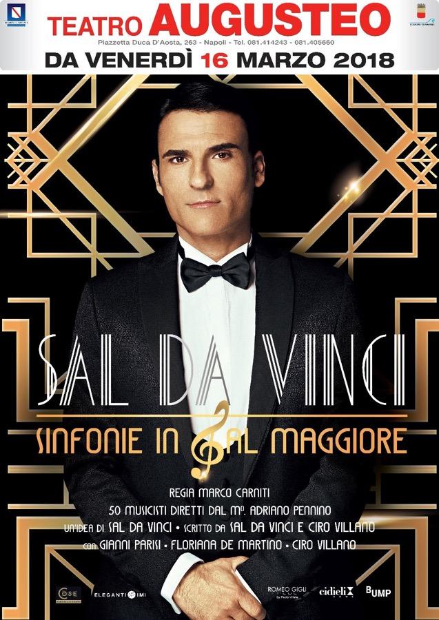 """Sinfonie in Sal maggiore"", Sal Da Vinci in scena al Teatro Augusteo"