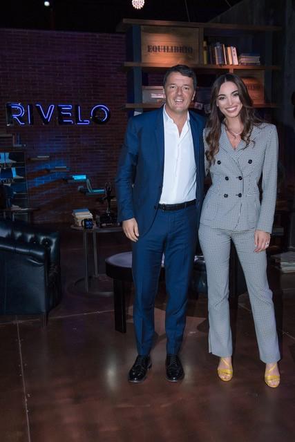 Matteo Renzi a Rivelo su Real Time con Lorella Boccia