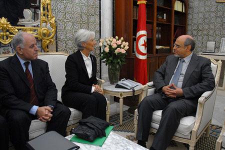 Christine Lagarde - Hamadi Jebali