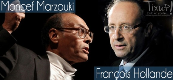 Moncef Marzouki - François Hollande