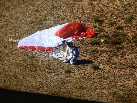 Felix Baumgartner on the ground