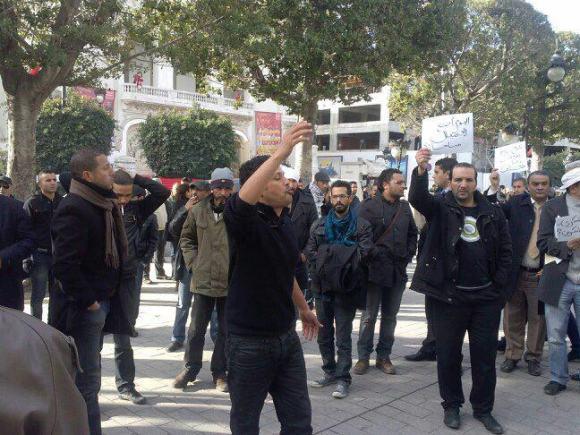 Manifestation suite à l'assassinat Chokri Belaid