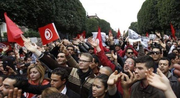 Manifestation à Tunis