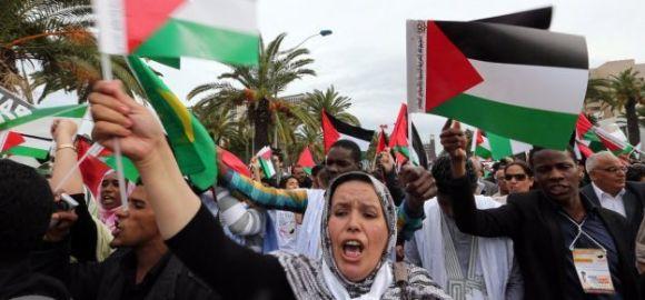 FSM: Les tunisiens manifestent pour les palestiniens