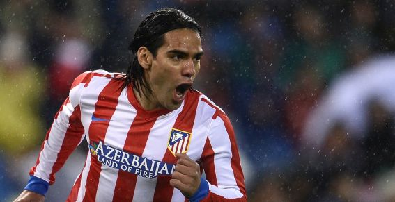 Le buteur colombien de l'Atletico Madrid, Radamel Falcao