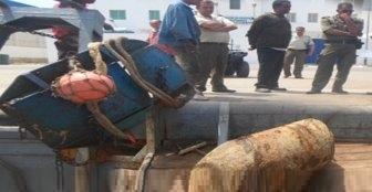 Mahdia : un obus militaire de 450 kg au filet des pêcheurs