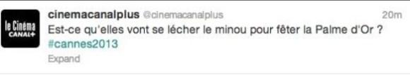 Tweet homophobe de Canal+