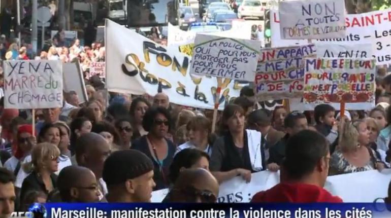 Marseille : une manif contre la violence