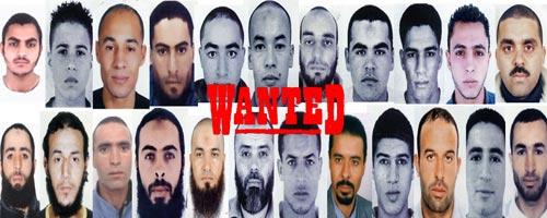 Le MI rediffuse les photos des recherchés dans les affaires terroristes