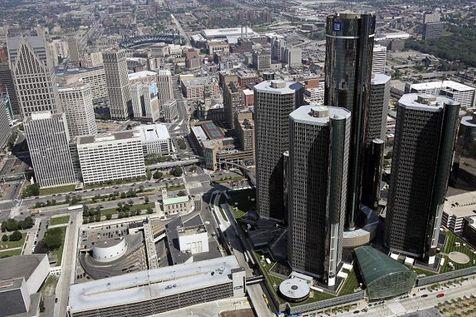 Photo : AP/Detroit Free Press La ville de Détroit.