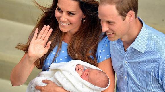 Le couple royal et George Alexander Louis