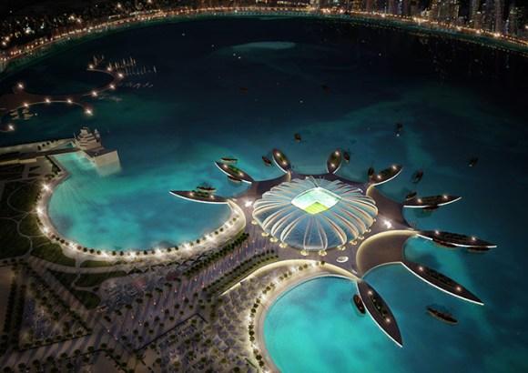Un projet de stade au Qatar.