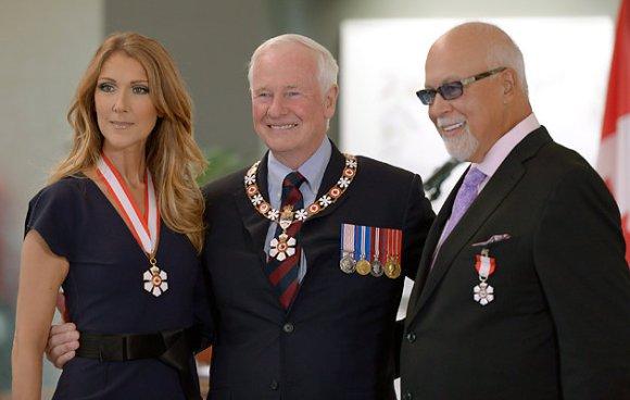 Céline Dion, le gouverneur général du Canada, et son mari René