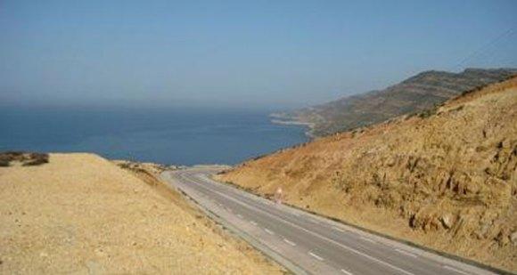 Rénovation de la route de Korbous