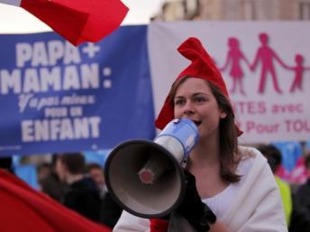 Une des manifestations de cette année contre le mariage gay