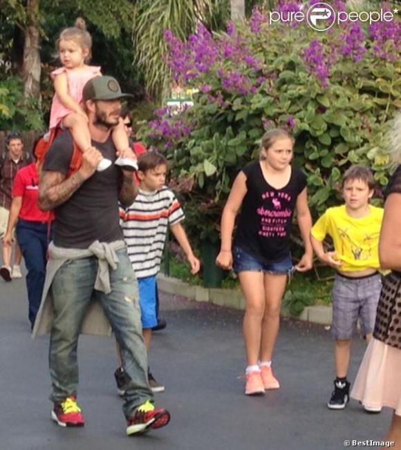 David Beckham et ses enfants