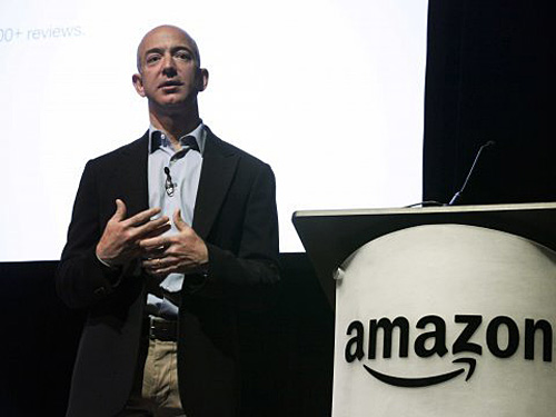 Jeff Bezos, fondateur d'Amazon,