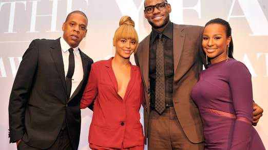 Le couple photographié avec Jay-Z et Beyonce.