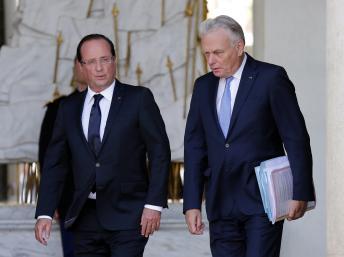Le président François Hollande et le Premier ministre Jean-Marc Ayrault à l'Elysée