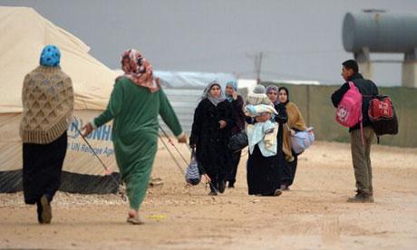 Le camp de réfugiés de Za'atari, en Jordanie.