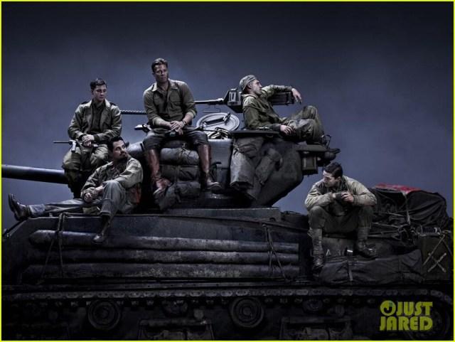 """La première série de photos du film """"Fury"""" avec Brad Pitt et Shia LaBeouf"""