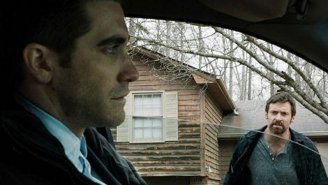 """Hugh Jackman et Aaron Guzikowski dans le film """"Prisoners""""."""
