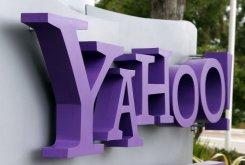 Le logo Yahoo à headqarters le 17 Juillet 2012 à Sunnyvale, en Californie.