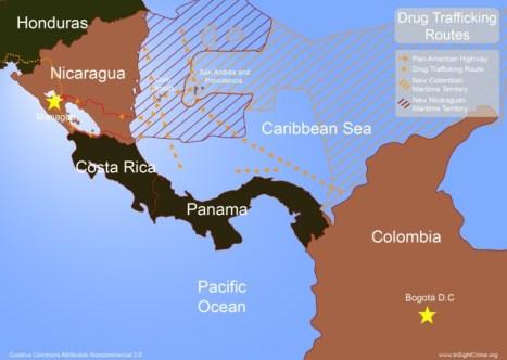 """Le chef de l'armée du Nicaragua a déclaré mardi que son pays ne négocierait pas """"même une seule goutte d'eau"""" à la Colombie"""