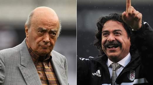 M. al Fayed (à gauche) et  M. Khan (à droite).