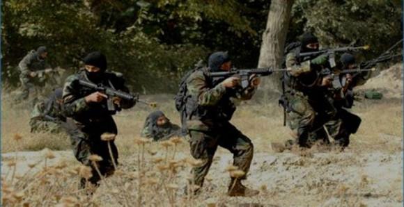 L'armée tunisienne au cours des opérations de ratissage au Mont Châambi à la frontière Tuniso-Algérienne